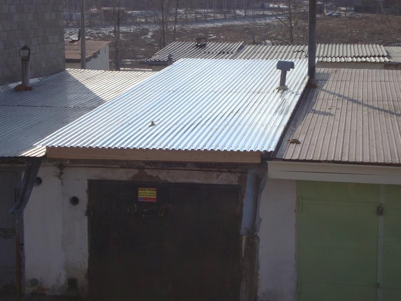 Покрытие крыша на гараж